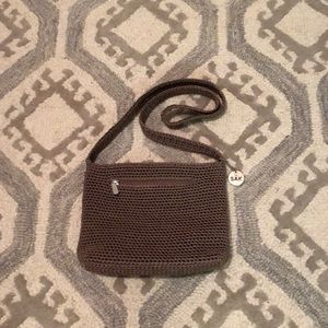 The Sak Crocheted Taupe Handbag
